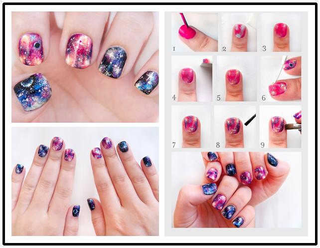 DIY Pretty Galaxy Nails Tutorial