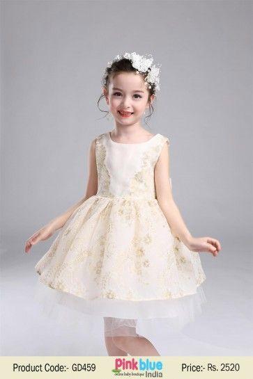 e0d7b5eec941 Exquisite Little Miss Princess Flower Girl Dress with White Long Net ...