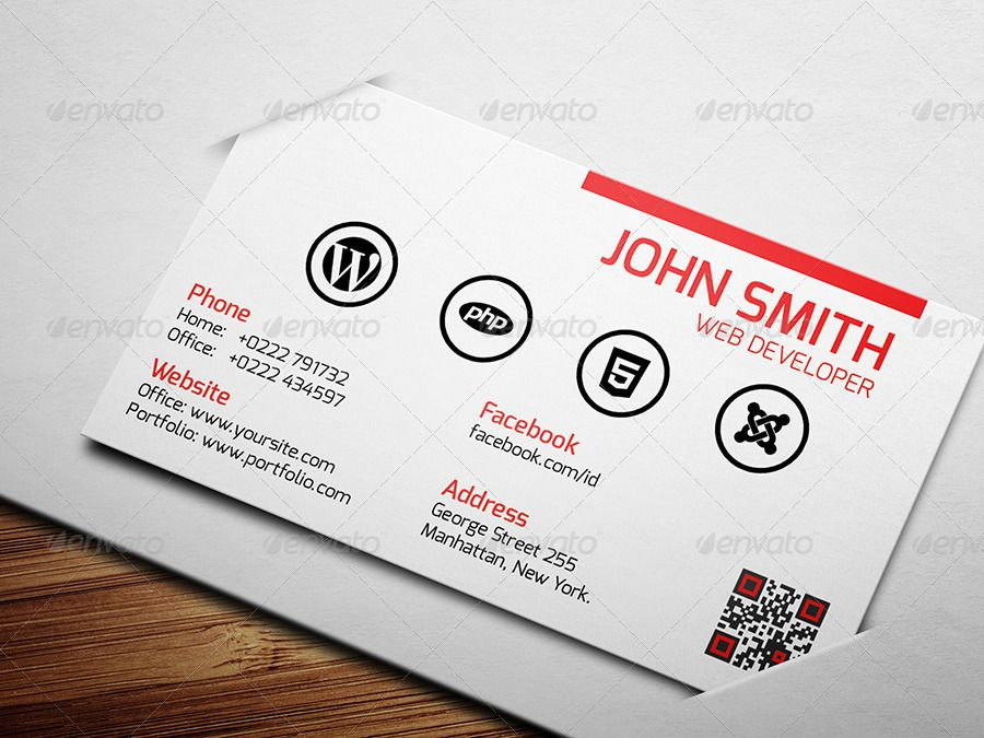 Web developer business card business cards and business web developer business card colourmoves