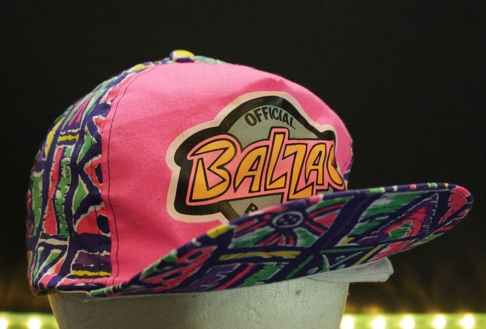 f36562e2082 Vtg Balzac Snapback Hat Cap Retro Balloon Ball Hip Hop Bright Loud Urban  Pink  CatcoInc