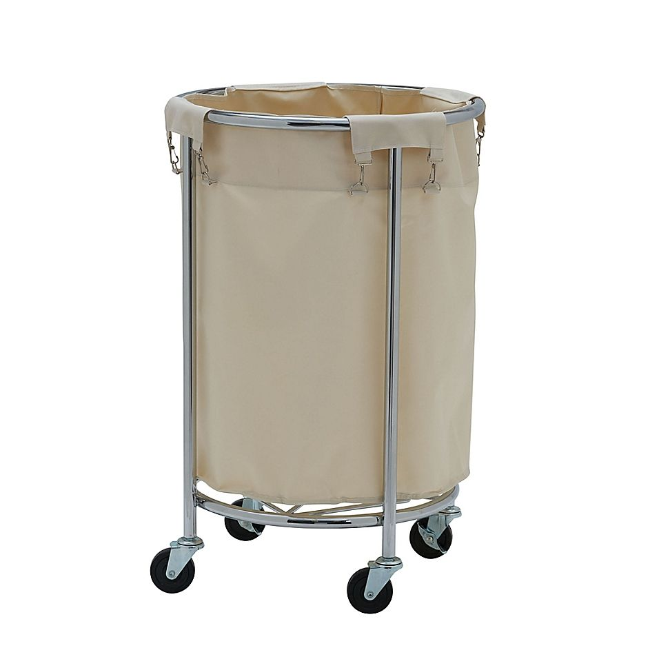 Household Essentials Commercial Laundry Hamper Chrome Laundry