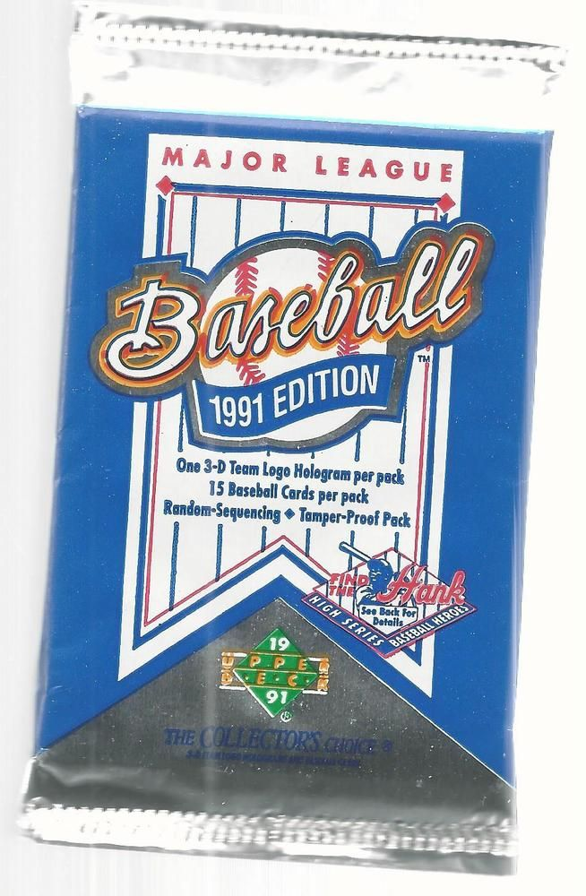 1991 Upper Deck Collectors Choice Unopened Baseball Cards 15 Card