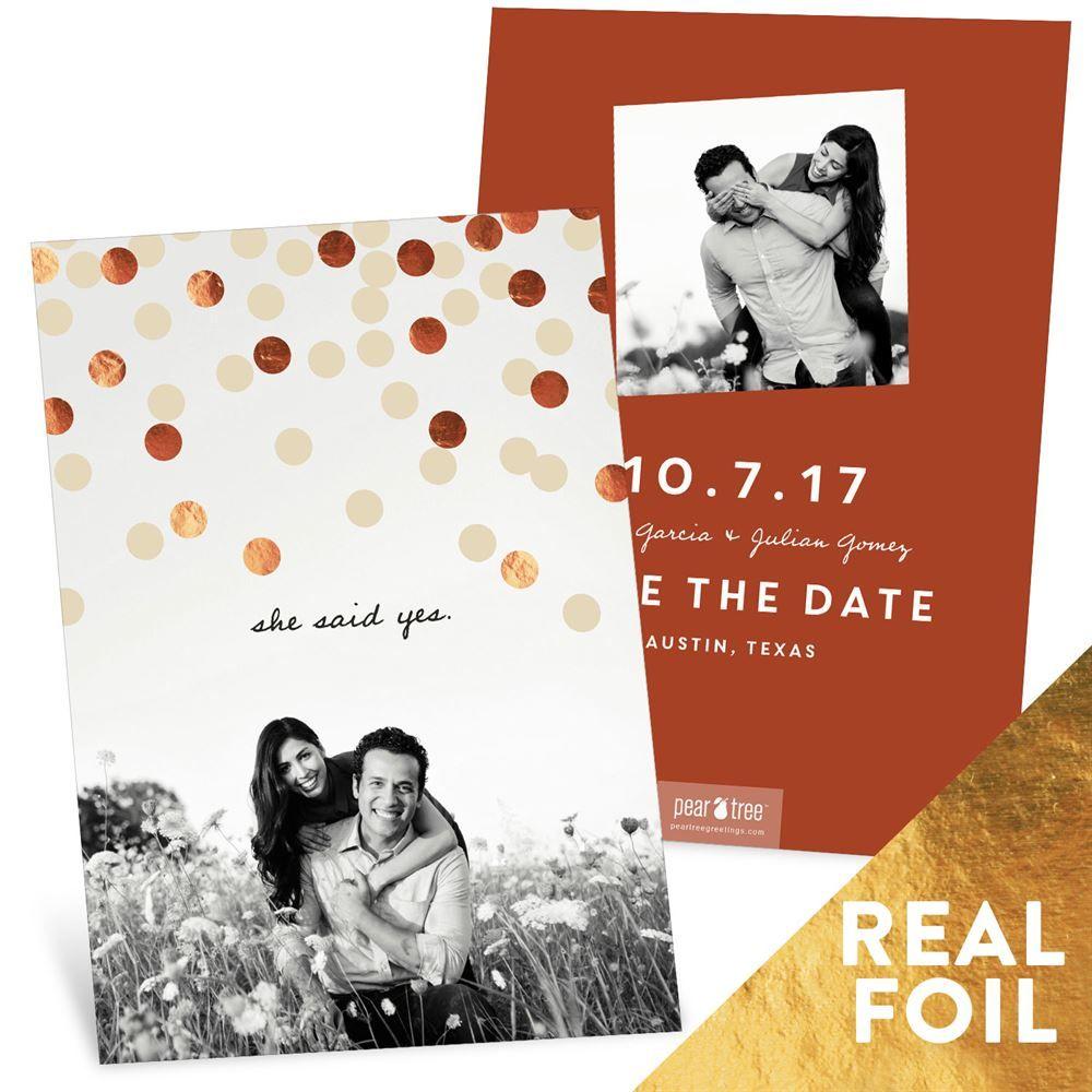 Foil Confetti -- Save The Date Cards | Confetti