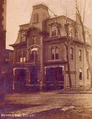 Newton New Jersey Postcard Post Office Landmarks