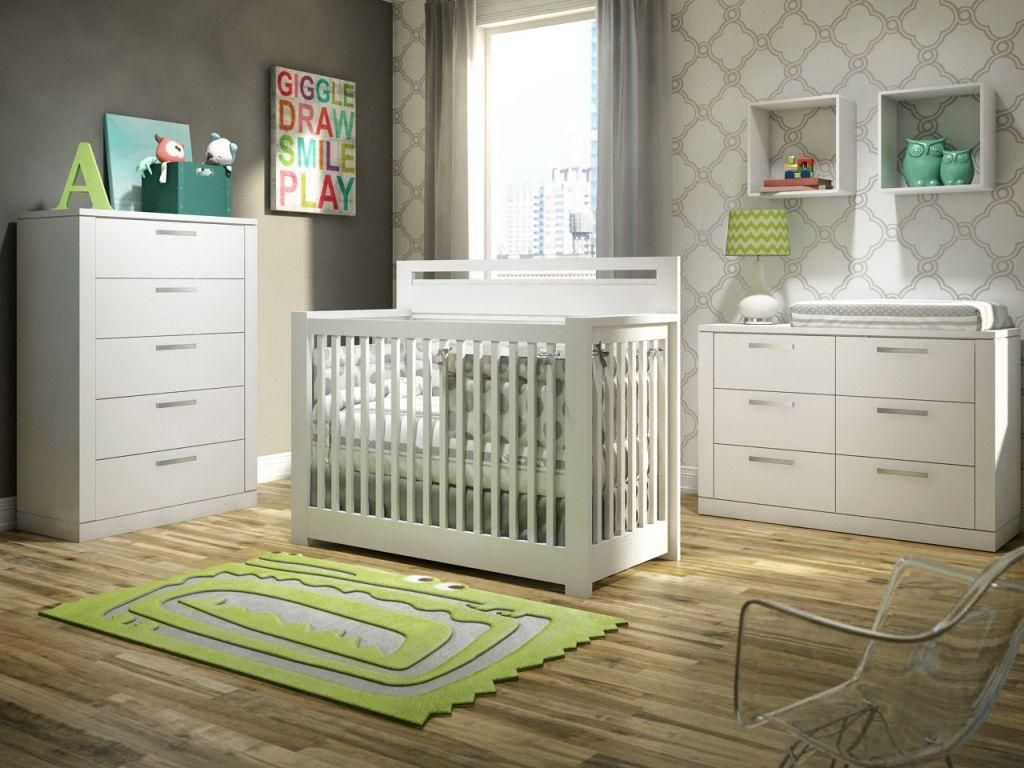 Milano Convertible Crib to Double bed, 5 Drawer dresser ...