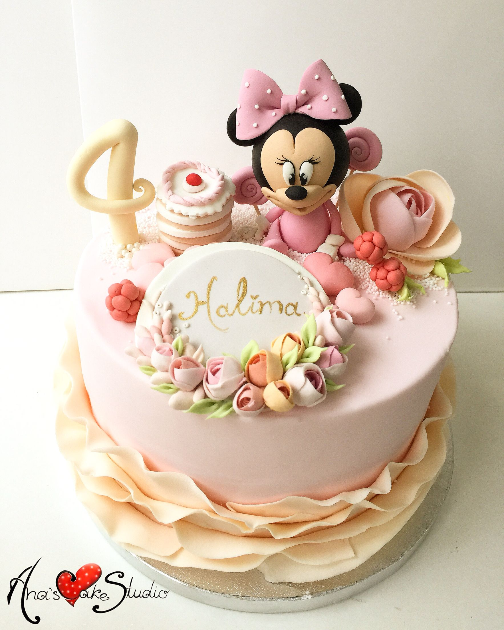 Stupendous Minnie Mouse Cake Minnie Mouse Birthday Cakes Minnie Cake Mini Funny Birthday Cards Online Elaedamsfinfo
