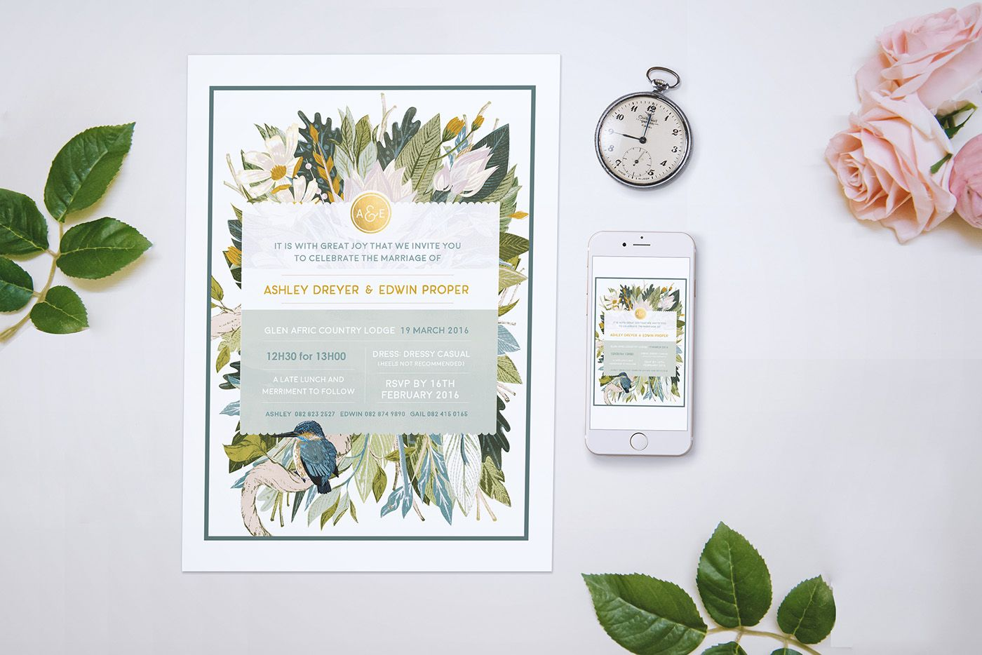 A South African Bushveld Inspired Save The Date featuring the South ...