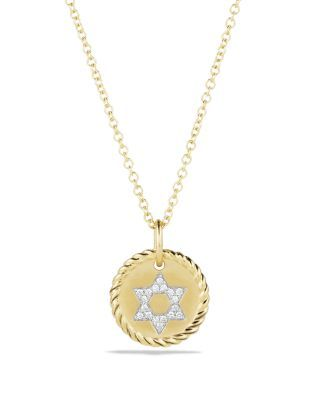 a8469cd0d0a6 David Yurman Cable Collectibles Star of David Necklace with Diamonds in 18K  Gold | Bloomingdale's