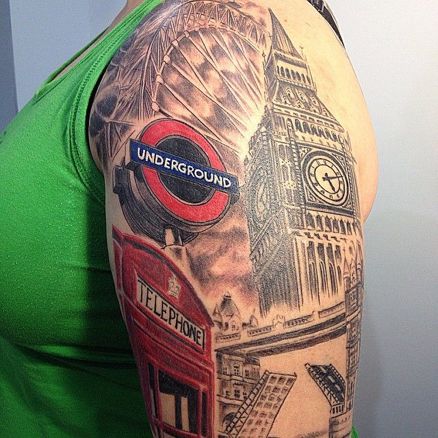 15 Gorgeous London Inspired Tattoos You Ll Absolutely Love London Tattoo Big Ben Tattoo England Tattoo