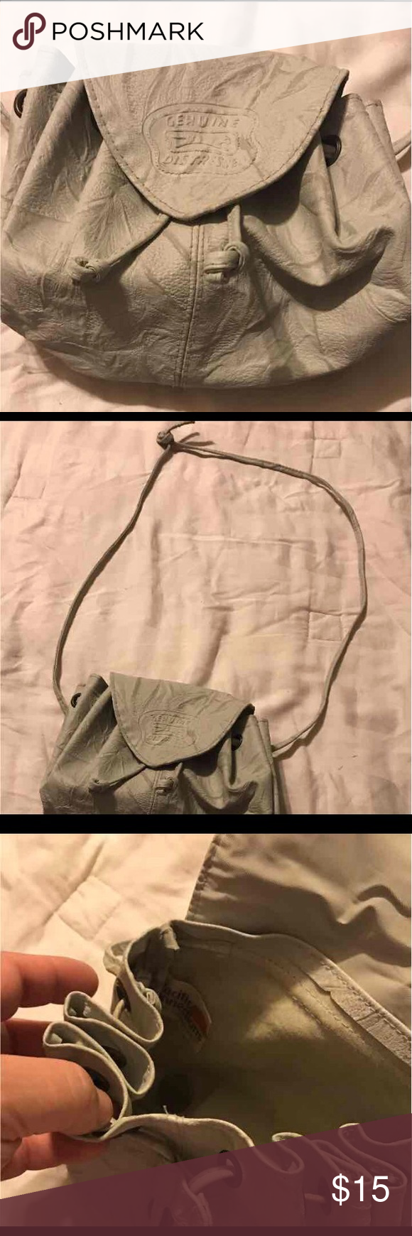 Pacific Connection distressed bag It cinched and is small enough when you do t need a big purse Bags Hobos