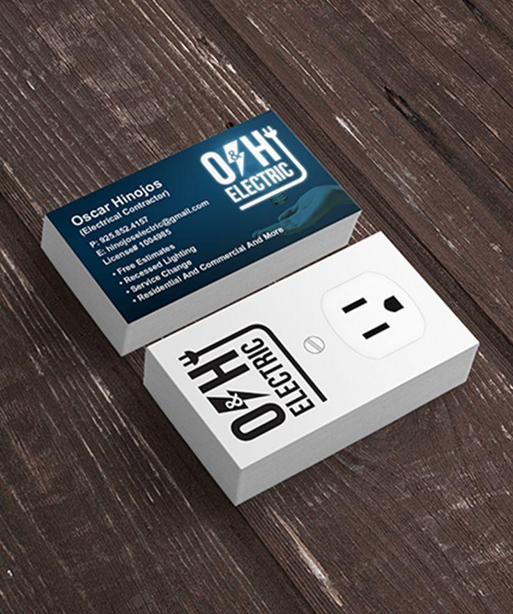 Great Business Card Design Idea For Electric Company Brand Business Card Logo Business Card Design Business Design