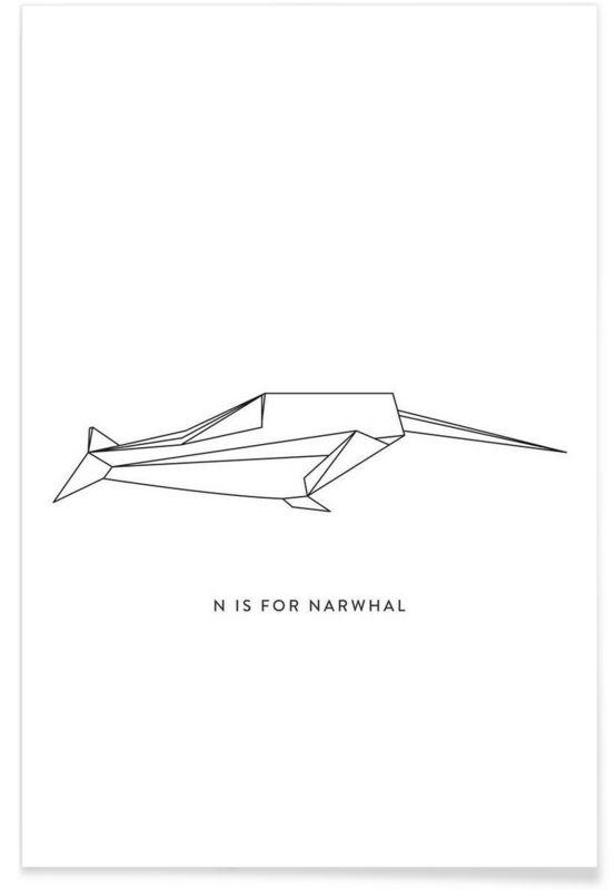 N als Premium Poster door Julia Marquardt | JUNIQE