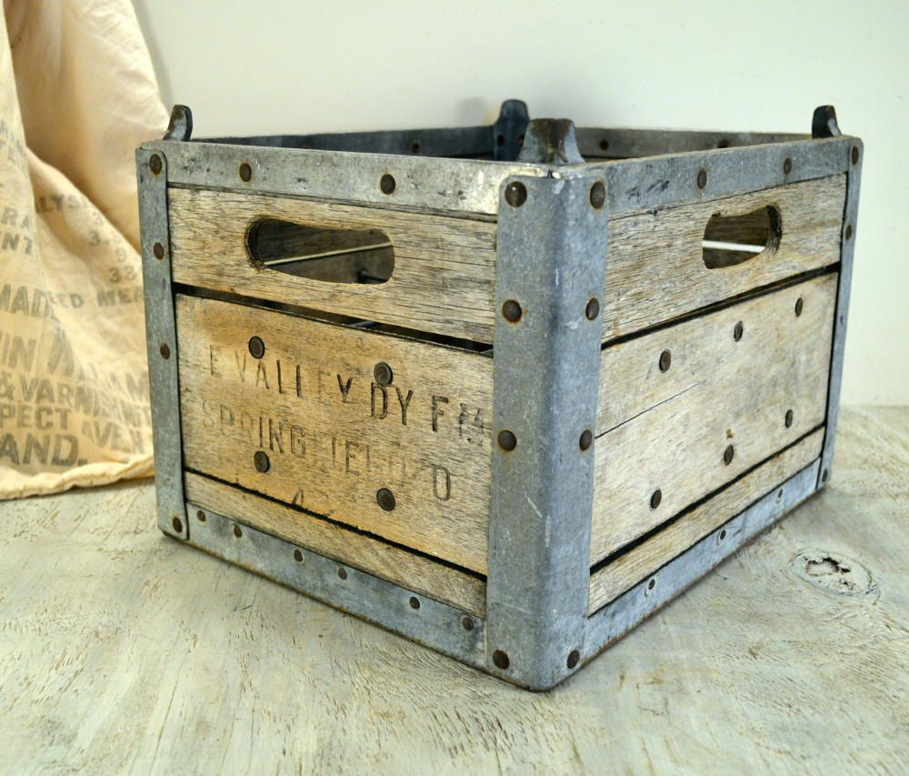 Vintage Dairy Farm Milk Crate Wooden Shipping Crates Wooden Crate Crates