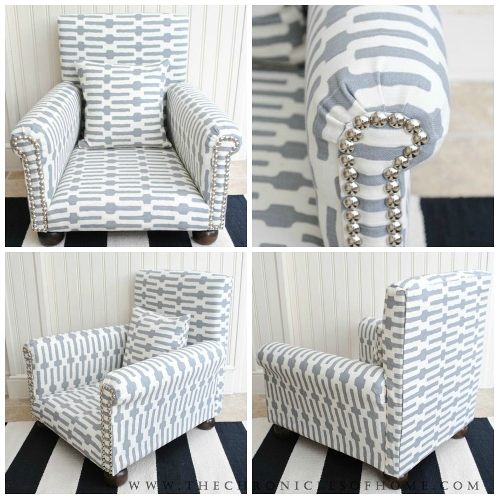 Diy Child S Upholstered Chair Upholstered Kids Chair Childrens