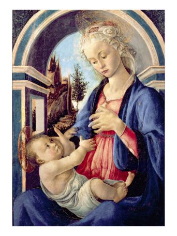 Madonna And Child Botticelli Avignon : madonna, child, botticelli, avignon, Madonna, Child', Giclee, Print, Sandro, Botticelli, Art.com, Botticelli,, Renaissance, Paintings