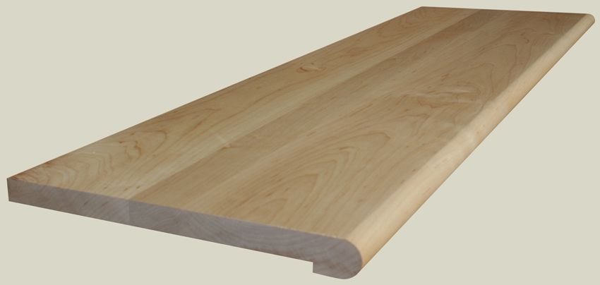 Prefinished Hard Maple Retrofit Stair Tread