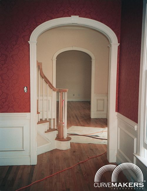 Arched Doorway Trim Kit Model L Solid Wood Arch Kit - Curvemakers Inc