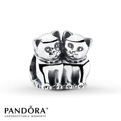 Pandora Charm Purrfect Together Sterling Silver So Cute Need This