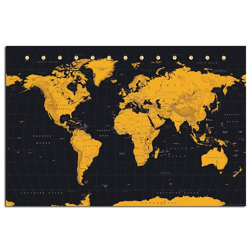 World map in black gold poster iposters cork map pin boards world map in black gold poster cork pin memo board beech framed x 66 cms approx 38 x 26 inches gumiabroncs Images