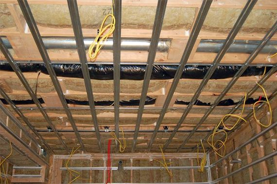 Here S Advice On Soundproofing Your Ceilings And What Materials Work Best When You Want To Block Noise From Basement Ceiling Sound Proofing Basement Insulation