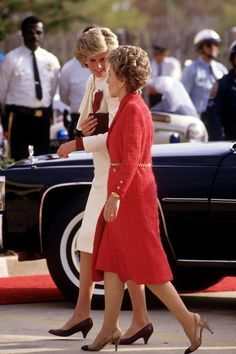 Princess Diana and Nancy Reagan