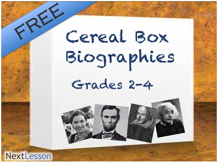 Cereal Box Biography  Technology Literacy Creative Thinking