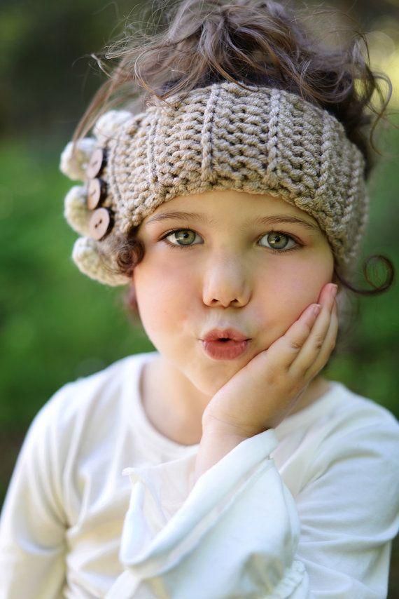 Children\'s Crochet Ear Warmers / Crochet Headband / Chunky Ear ...