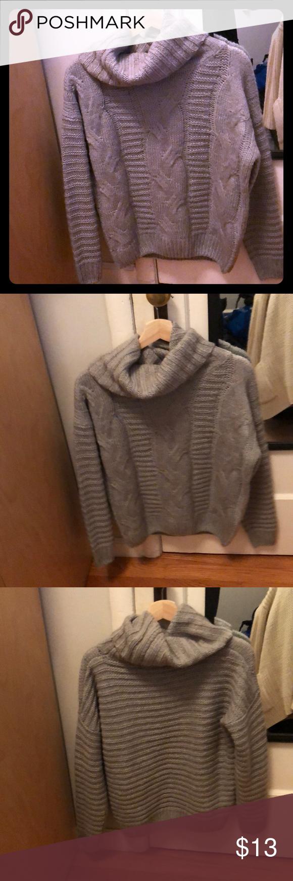 Cute, cozy, gray, Rhapsody sweater