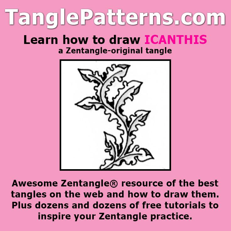 how to draw zentangle step by step