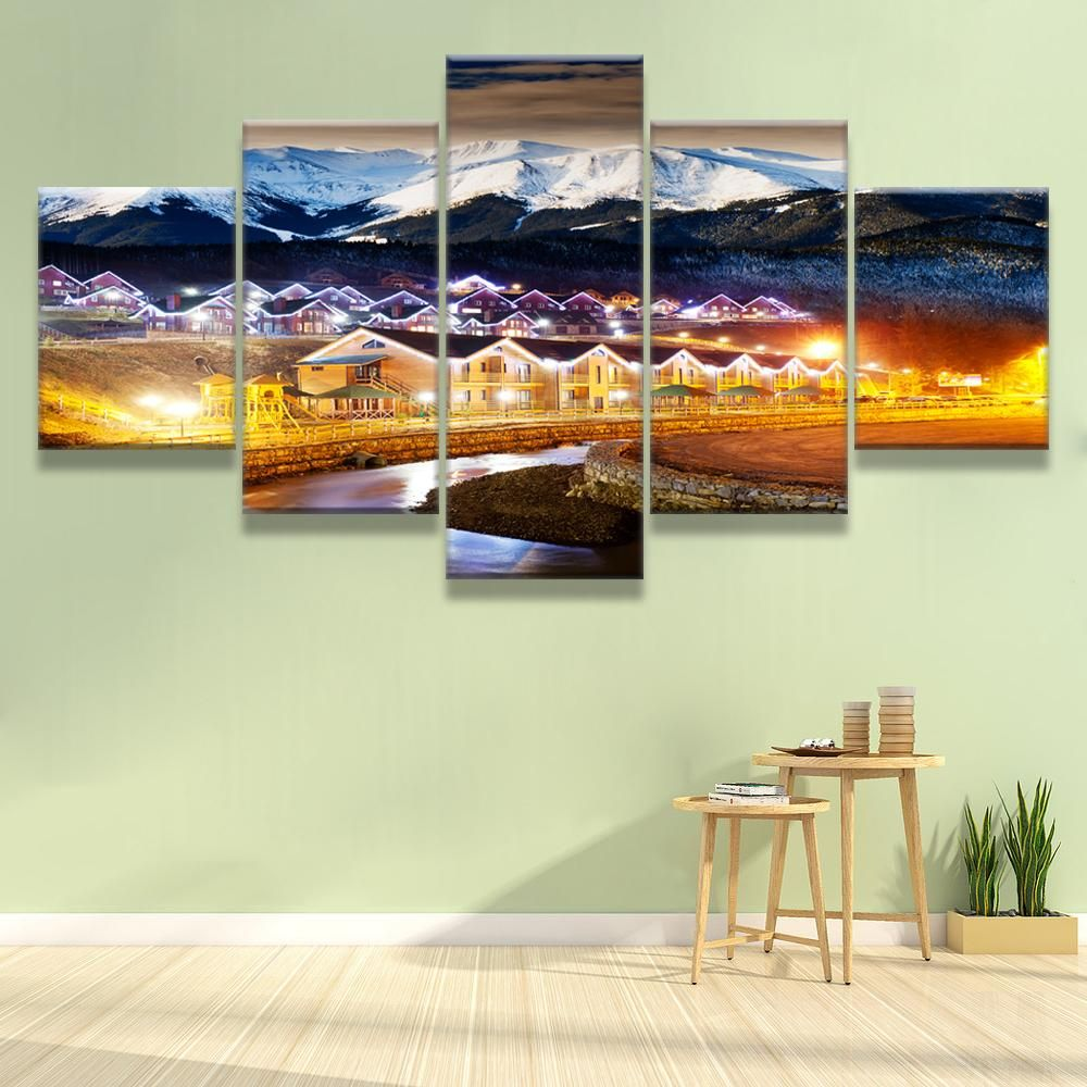 City night light wall art canvas | WALL ART CANVAS | Pinterest ...