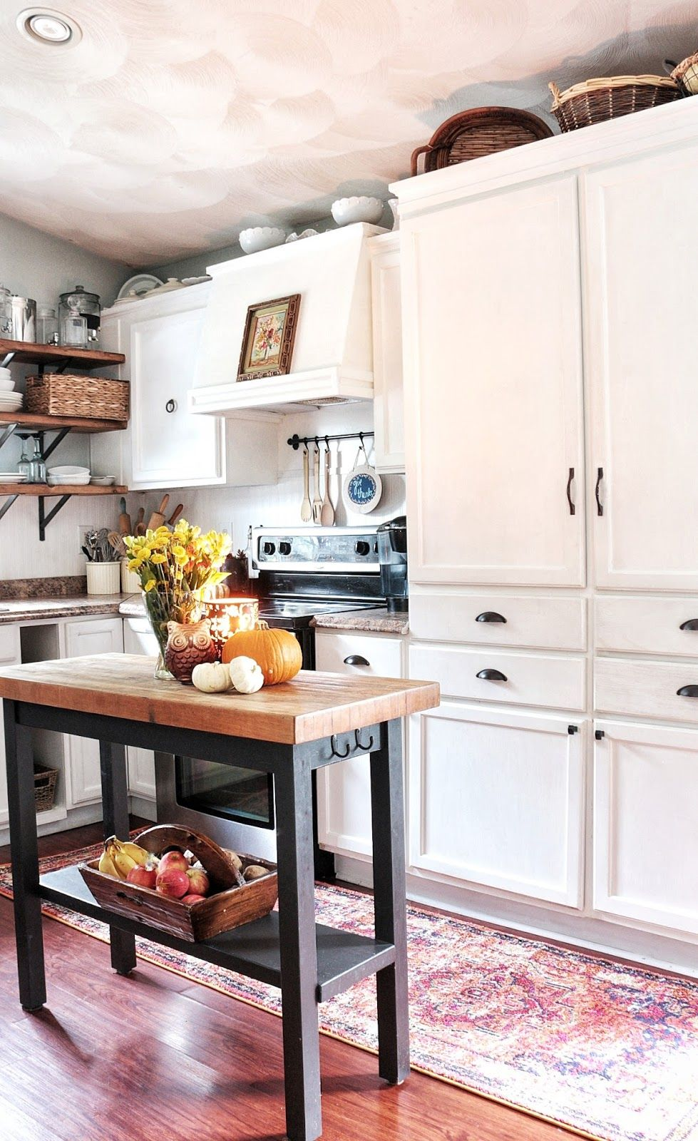 FabFallFest Fall Home Tour 2016 Kitchen remodel, Upper