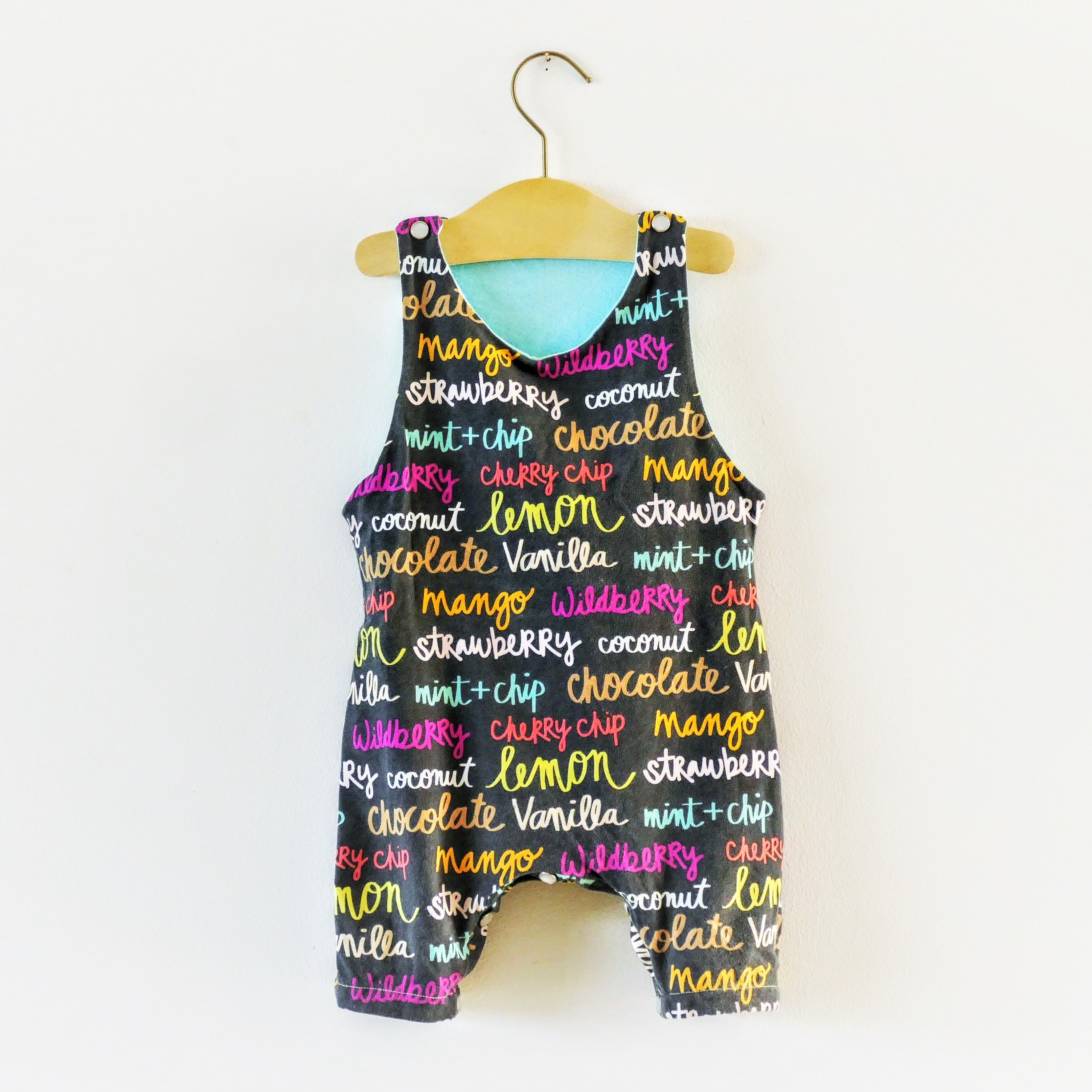 32ebcca42 Racerback romper digital sewing pattern for babies and kids ...