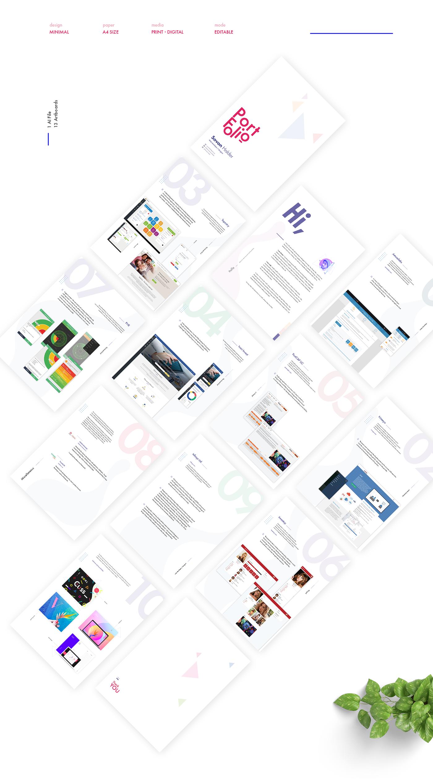Minimal Portfolio - Free on Behance   ดีไซน์   Free portfolio