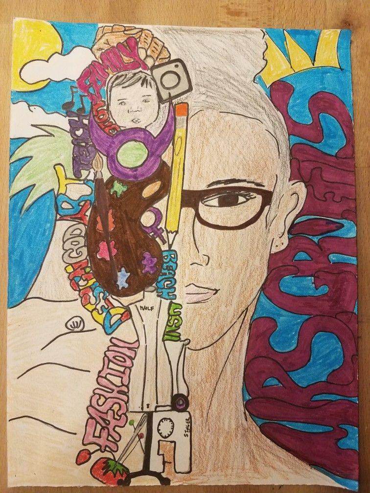 Symbolic Self Portraits Art Lesson Examples Pinterest Art Lessons