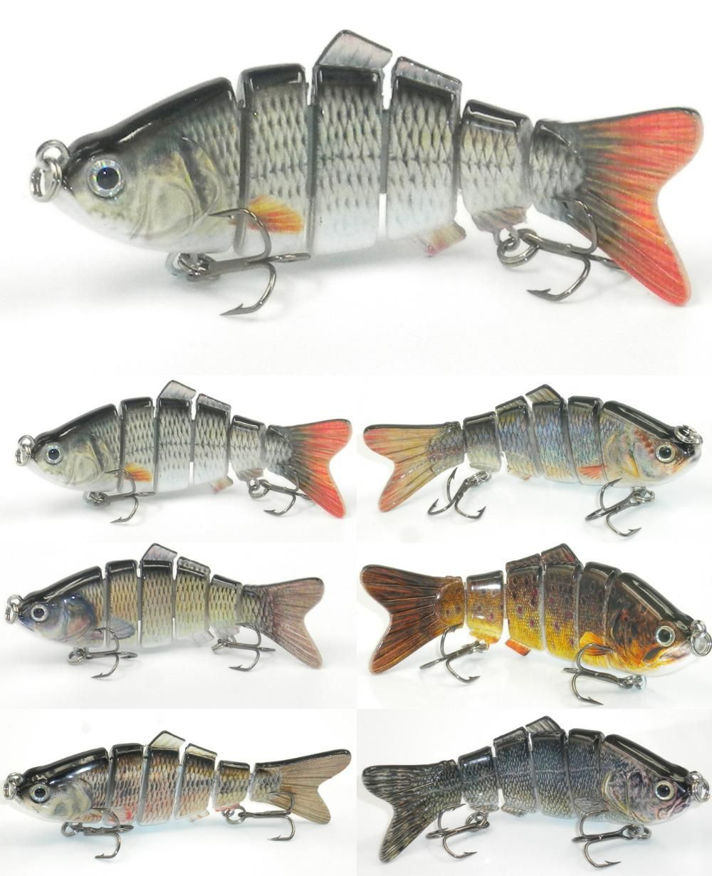 4 inch oz 6 segments swimbait fishing lure for Bass fishing 3d
