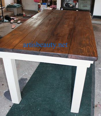 Art Is Beauty How To Build Your Own Farmhouse Table For Under 100 I