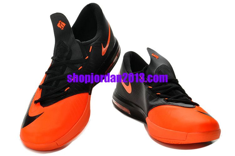 Nike Zoom KD 6(VI) Shoes Team Orange/Black Kevin Durant Shoes 2013