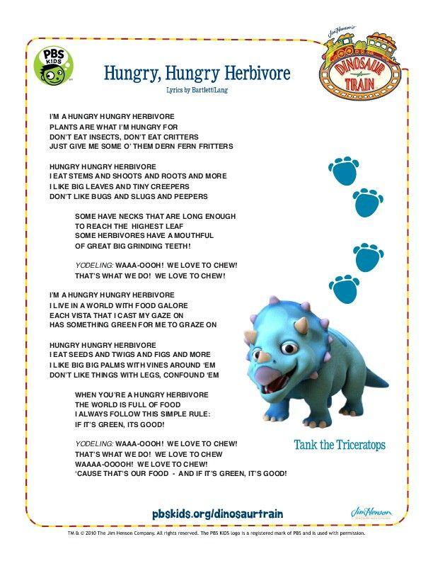 Dinosaur Train Herbivore song | Kids Corner | Dinosaurs ...