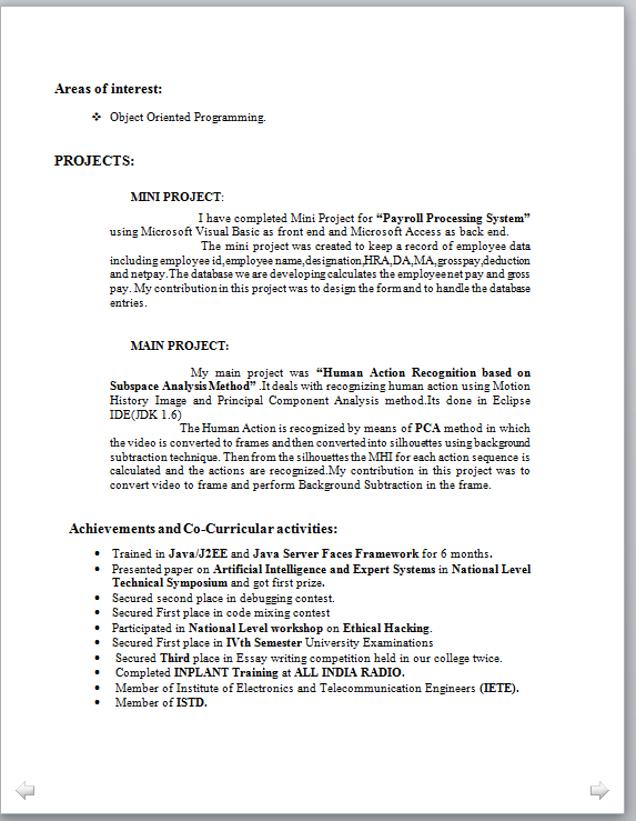 M Tech Resume Format Format Resume Resumeformat Resume Format For Freshers Resume Examples Resume Format
