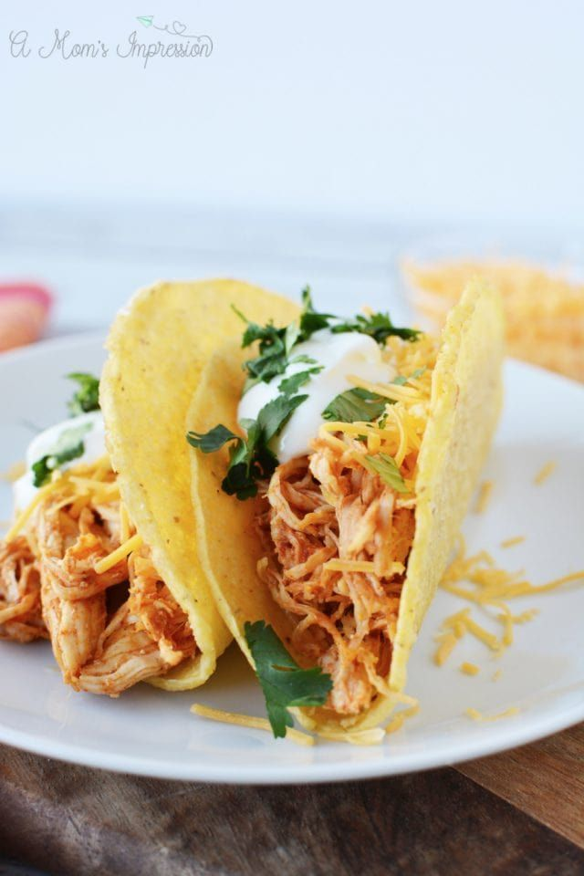 Instant Pot Chicken Tacos #shreddedchickentacos