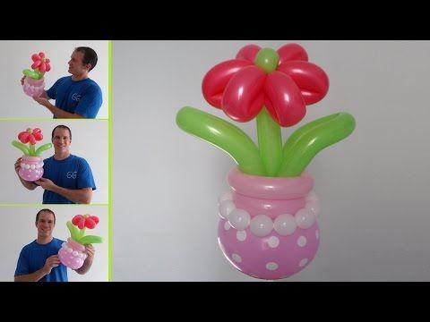 Como hacer un florero con globos globoflexia facil - Como hacer figuras con globos ...
