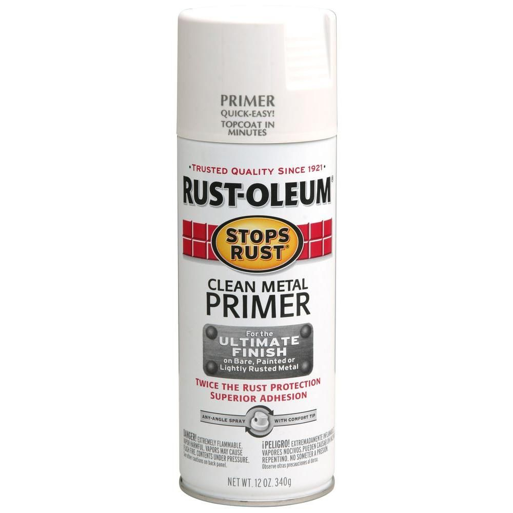 Rust-Oleum Stops Rust 12 oz  Flat White Clean Metal Primer