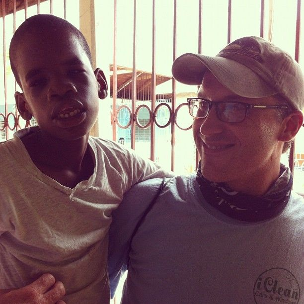 Nate made a new friend named Floyd at Bethlehem Home who liked to be carried everywhere.