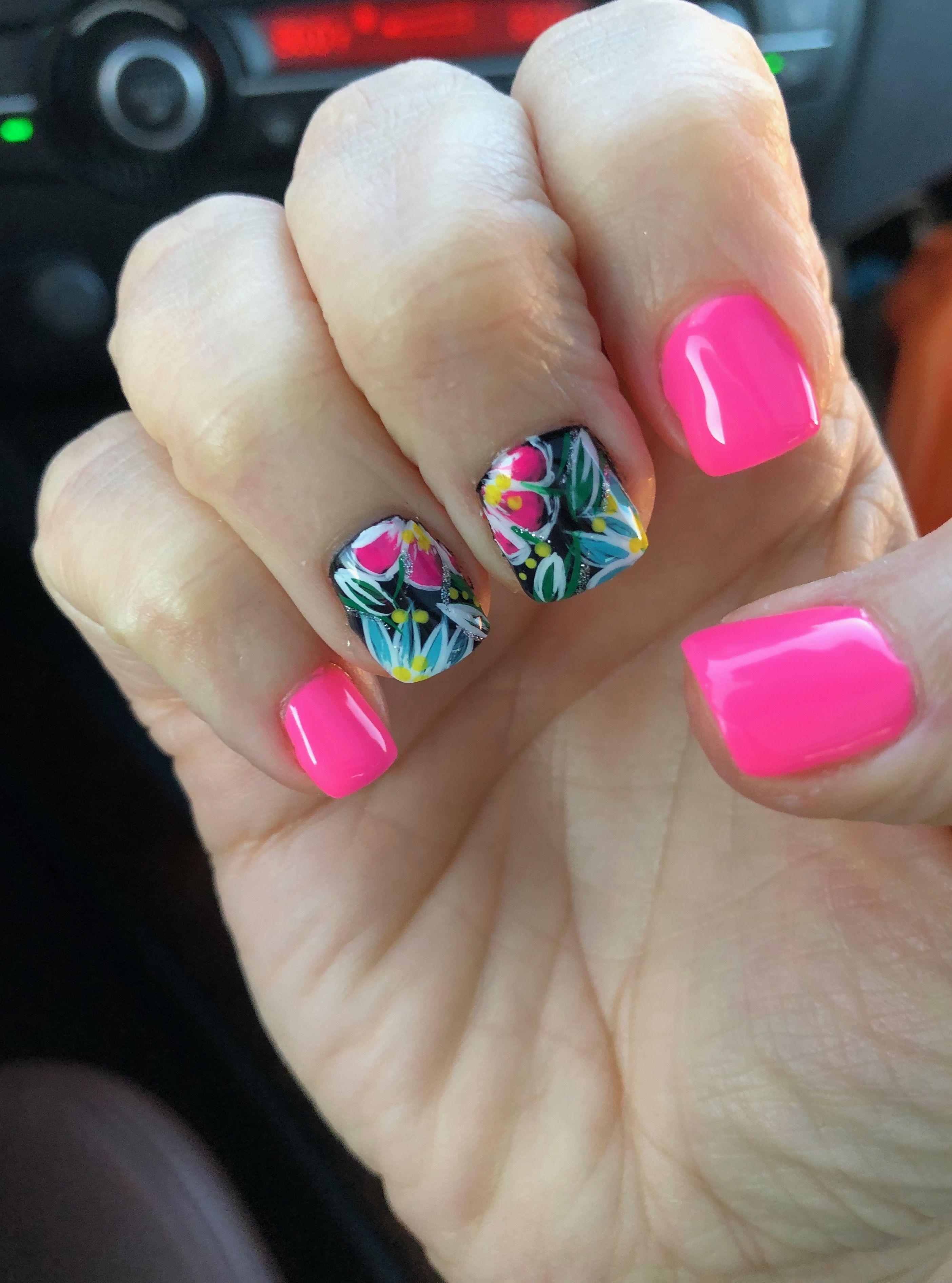Tropical vacation nail designs gel