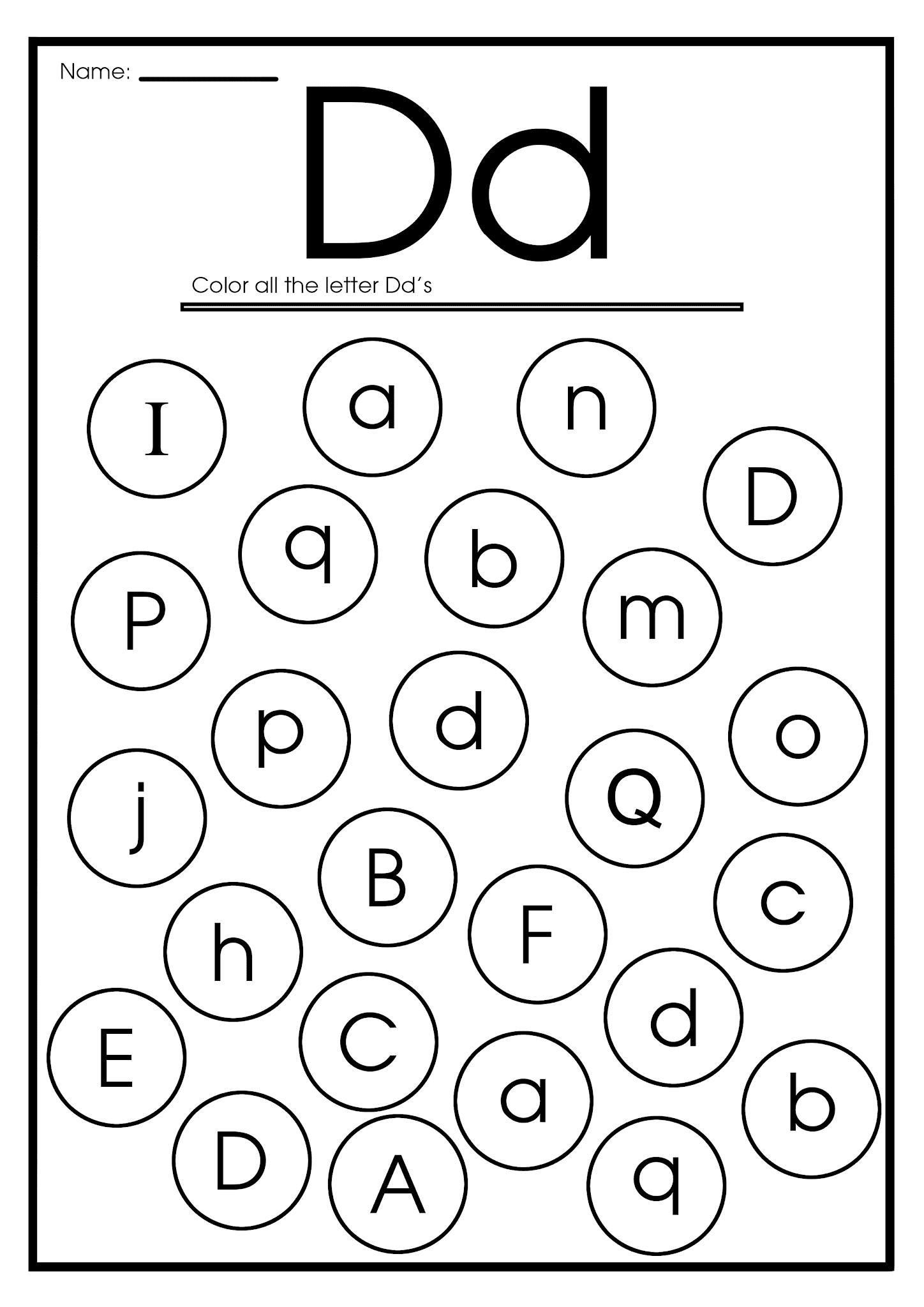 Letter C And D Worksheet 10 In