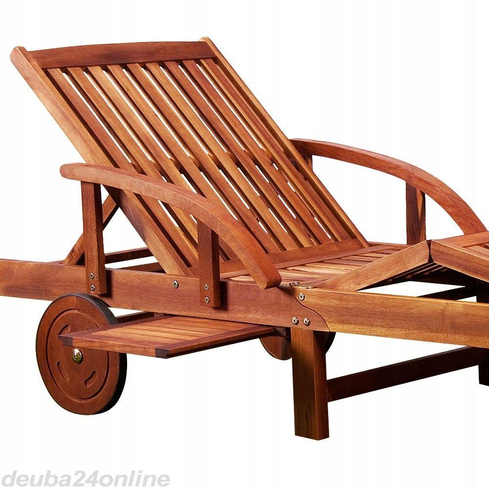 Drewniany Lezak Ogrodowy Lezanka Na Kolach Stolik 7959452978 Oficjalne Archiwum Allegro Sun Lounger Folding Sun Loungers Outdoor Chairs