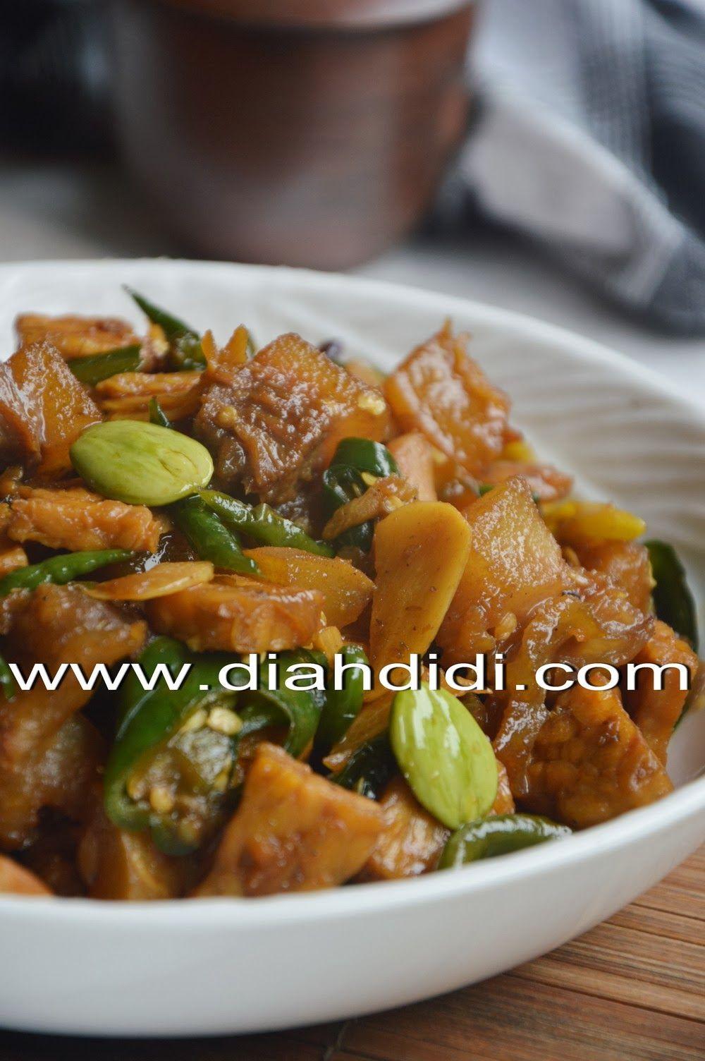 Diah Didi S Kitchen Oseng Kikil Dan Tempe Cabai Hijau Resep Masakan Masakan Makan Malam
