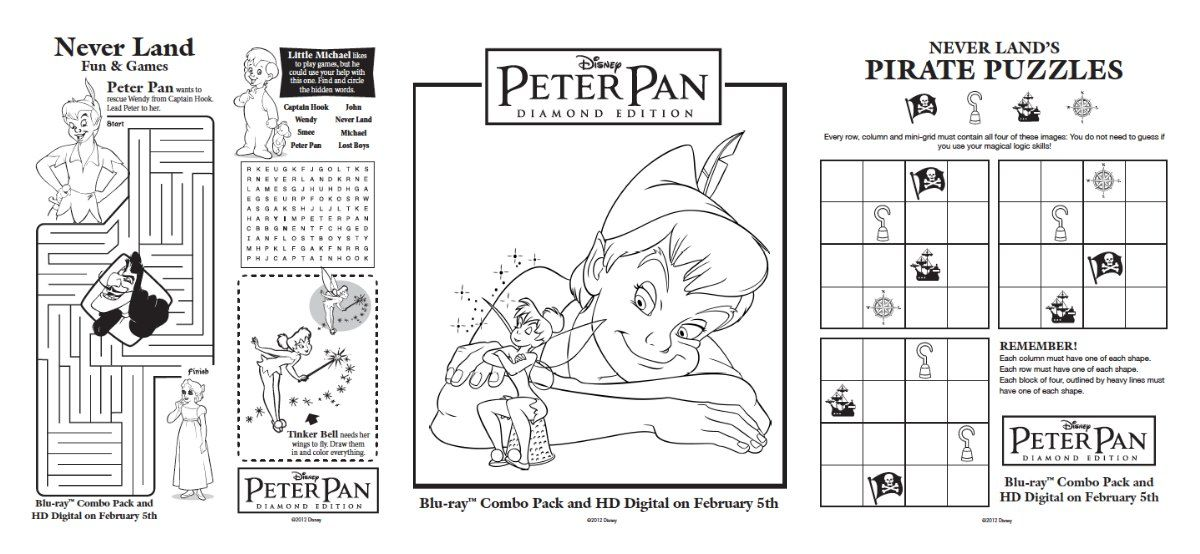 Free Peter Pan Activities & Printables | Peter pans, Activities and Free