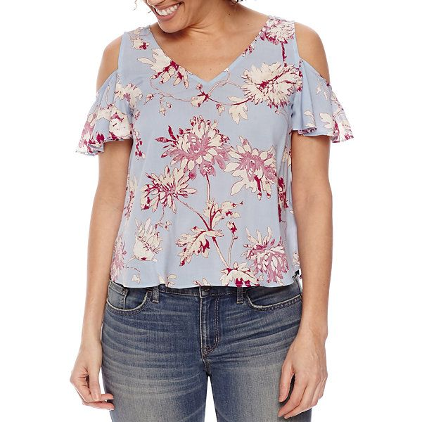 abcd3937bba24 a.n.a Cold Shoulder Rayon Blouse - JCPenney
