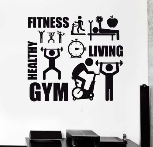 Wall decal healthy lifestyle sport motivation fitness gym for Gimnasio vida fitness